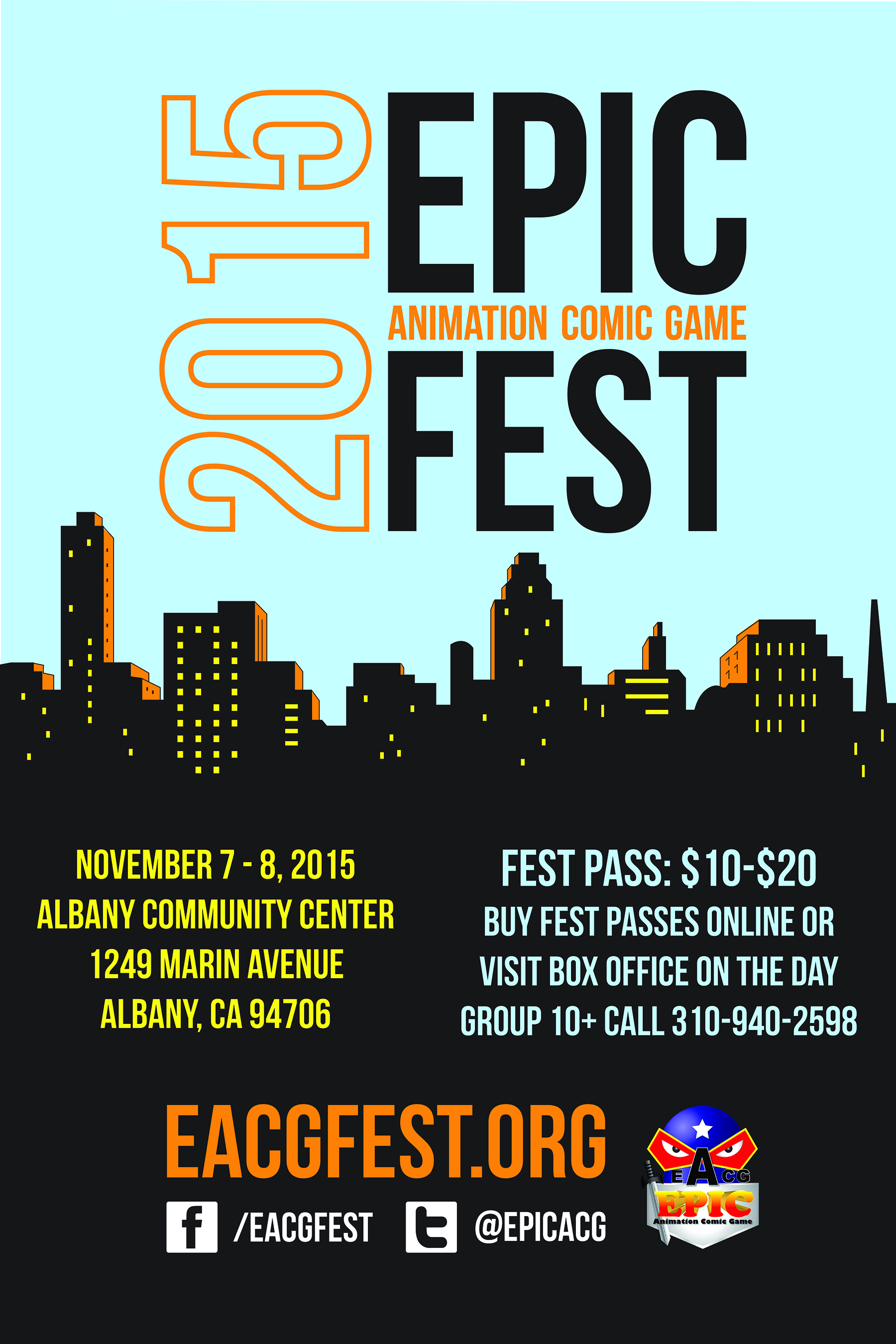 2015 Epic ACG Fest Poster
