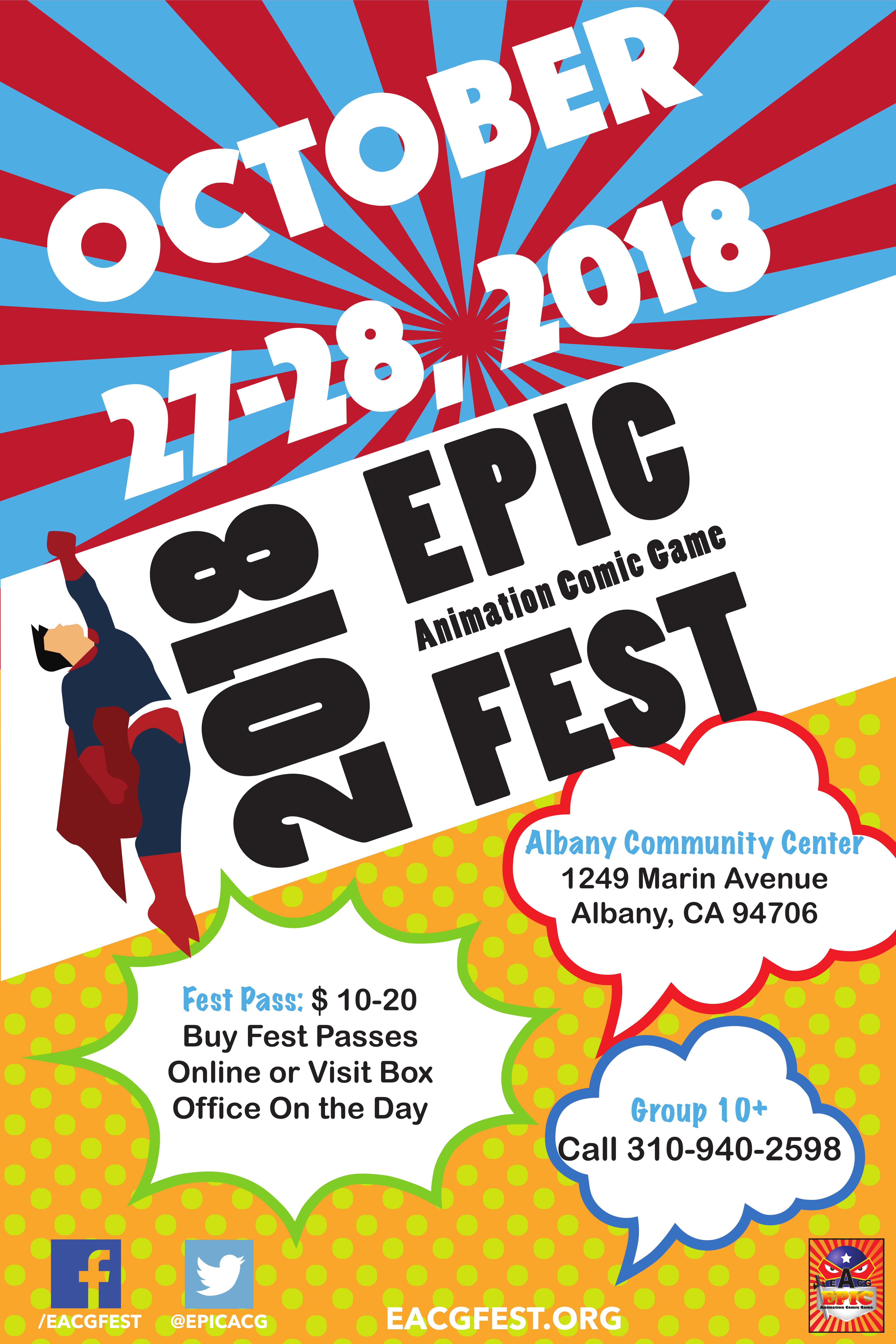 2018 Epic ACG Fest Poster